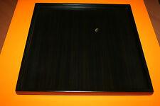 plateau de présentation en bois laqué Marron carré de 35 x 35 cm poids 1,2 kg