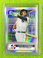 JASSON DOMINGUEZ BOWMAN CHROME ROOKIE CARD SILVER PRIZM YANKEES SP RC 2020 Topps