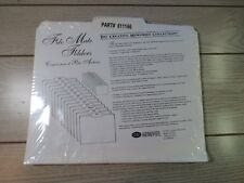 NEW Sealed Package of Creative Memories File Mate Folders - 13 Folders White