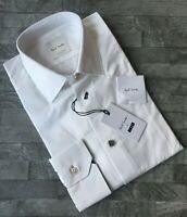 Paul Smith Hommes en Noir Blanc Chemise avec Charme Boutons Détail Taille 38.1cm