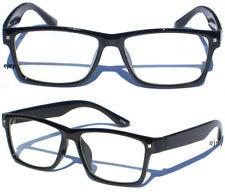 Smart Nerd Teacher Rectangular Polite Clear Lens Glasses Black Frame New
