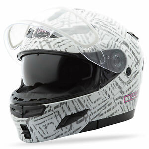 GMAX Divas Snow Gear DSG GM54S Modular Helmet (AZTEC White) Choose Size
