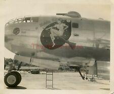 *Wwii photo- B 29 Superfortress Bomber plane Nose Art - Wichita Witch*
