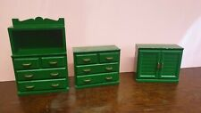 Vintage 80s Sylvanian Family green furniture