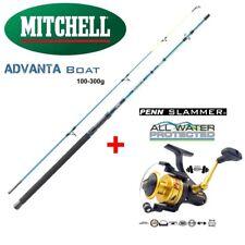 Meeresangel Set Mitchell 2,40m 100-300g Metallrolle DIWA FD5000 13+1 Kugellager