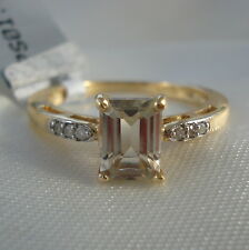 1.20ct Turkish Diaspore & Diamond 14k Gold Engagement Ring