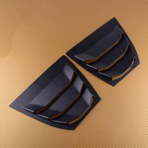 Matte Rear Window Side Louver Vent Panel Fit For Mazda 3 Axela Sedan Hatchback