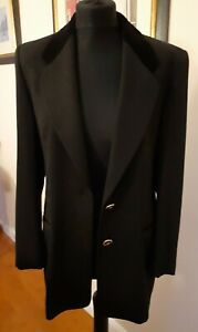 Vintage Basler Jacket UK 10 Black tailored Trevera  Velvet Trim collar