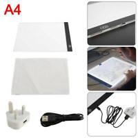 UltraThin A4 LED Drawing Board Tracing Light Box Tattoo Art Stencil Lightbox Pad