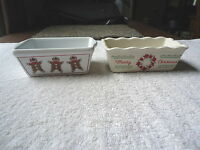 """Lot Of 2 Holiday / Christmas Baking Dishes,1,Nantucket,1,Other """" BEAUTIFUL SET """""""