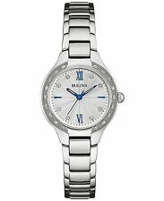 Bulova Women's 96R208 Diamond Accents Quartz Silver Tone 28mm Bracelet Watch