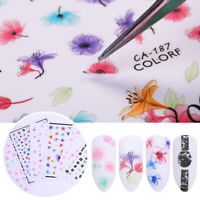 Mixed Flower 3D Nail Stickers Nail Art Transfer Sticker Nail Decoration Tips DIY