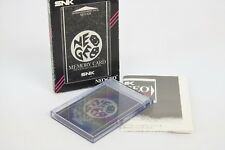 NEO GEO AES Memory Card Boxed Ref/3012