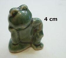 superbe grenouille miniature en porcelaine, rêveur ,collection,kikker ,frog 2*T2