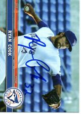 Ryan Cook 2017 Dunedin Blue Jays Signed Card