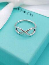 Tiffany & Co Sterling Silver Infinity Ring Size K,  (US 5.5) EU 50.5) Genuine