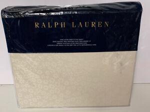 Ralph Lauren Home Cassie Tallie King Extra Deep Fitted Sheet Cream