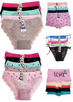 New 5 Womens Hipster Boyshort Girl Panties Bikini Underwear Size S M L XL