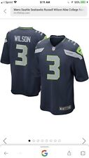Mens Seattle Seahawks Russell Wilson Nike College Navy Game Jersey 1467c6db6