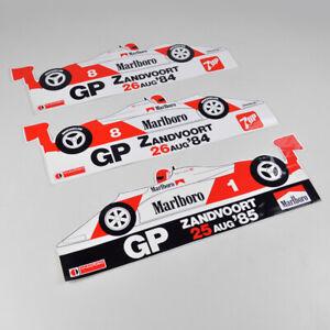 3 x Formel 1 GP Zandvoort - Sticker Aufkleber - Vintage - Niki Lauda 1984 1985
