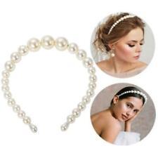 Women Hairbands Large Ivory Full Pearl Headbands Trendy Fashion Luxury Girls