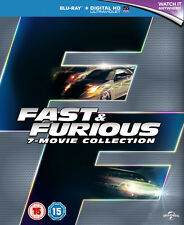 Fast and Furious 1to 7 Blu Ray 2015 Region Great Gift Idea