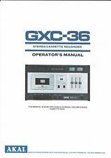 Akai  Bedienungsanleitung user manual owners manual  für GXC- 36