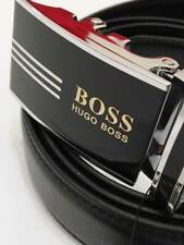 BS15 BLACK LEATHER MAN BELT 52''  AOTUMATIC BUCKLE SHIPPING WITH TRACKING NUMBER