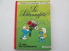 SCHTROUMPFS T3 1975 TBE LA SCHTROUMPFETTE DOS ROND