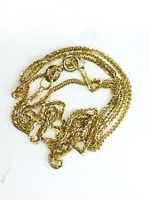 """New 14K Yellow Gold Square Spiga (Wheat) Chain Necklace 1.70 grams 20"""" Long"""