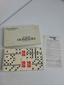 VINTAGE EXTRA THICK PUREMCO MARBLELIKE DOMINOES EIS NO 816