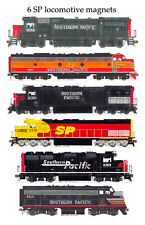 Southern Pacific Locomotives 6 magnet set Andy Fletcher