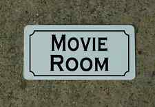 MOVIE ROOM Vintage Style Metal SIGN for Home Theatre Viewing Room