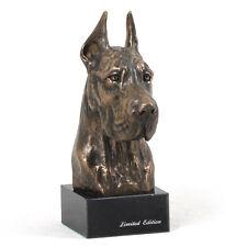 Deutsche Dogge (abgeschnitten), Hundemarmorstatue Büste, ArtDog, CH