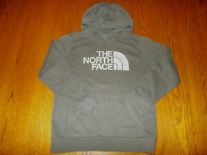 THE NORTH FACE GRAY HOODED SWEATSHIRT BOYS LARGE EXCELLENT CONDITION