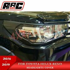 Matte Black Head Light Front Trim Covers for Toyota Hilux 2016-2019 SR5 only