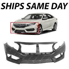 NEW Primered Front Bumper Fascia Covr Face Replacement for 2016-2018 Honda Civic