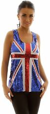 Sparkly SEQUINNED Union Jack dress - UK 8/10 small fitting BRITISH Flag