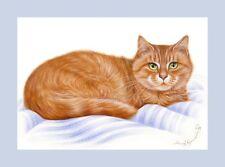 Ginger Cat Content Print from original by by Irina Garmashova