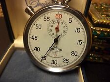VINTAGE CAMERO SWISS MADE 7 JEWELS RACE CAR TRACK STOPWATCH SHOCK PROTECTED
