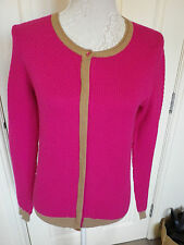 NEXT PINK TAN WAFFLE TEXTURED CARDIGAN SIZE 8 EXCELLENT CONDITION