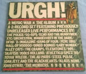 URGH!,COMPILATION, 1981 A&M LABEL DOUBLE LIVE, NEW WAVE,PUNK,ROCK, N/M.