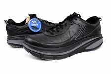 Hoka One One Mens Bondi Wide Leather Running Shoes Black Size 12 US