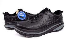 Hoka One One Mens Bondi Wide Leather Running Shoes Black Size 12 US