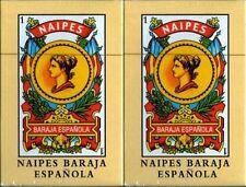 2x Spanish Playing Cards Baraja Espanola Española Briscas Naipes Deck New