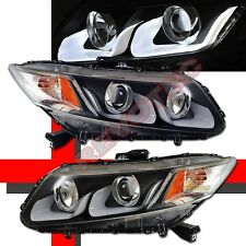 2012 2013 Honda Civic Coupe Sedan U Bar i8 Style LED Projector Headlights Black