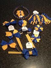 Madelienas Handmade School Hair Accessories Set .  Ponytail / Clips