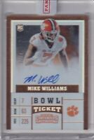 Mike Williams 2017 Contenders Draft Picks Bowl Ticket Rc On Card Auto Sp #ed /25