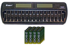 16 Bay AA / AAA LCD Charger + 32-Pack AA 2900 mAh AccuPower NiMH Batteries