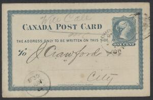 1877 #P2 1c Victoria PSC, General Express Office Advice, Toronto Duplex?